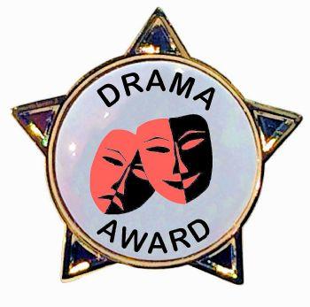 DRAMA AWARD star badge